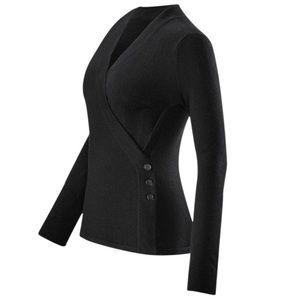 CAbi ballet wrap black cardigan sweater 3160